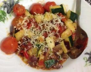Veggies in bolognese